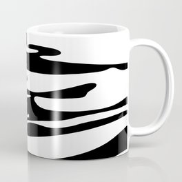 Abstract Sand Black And White Coffee Mug