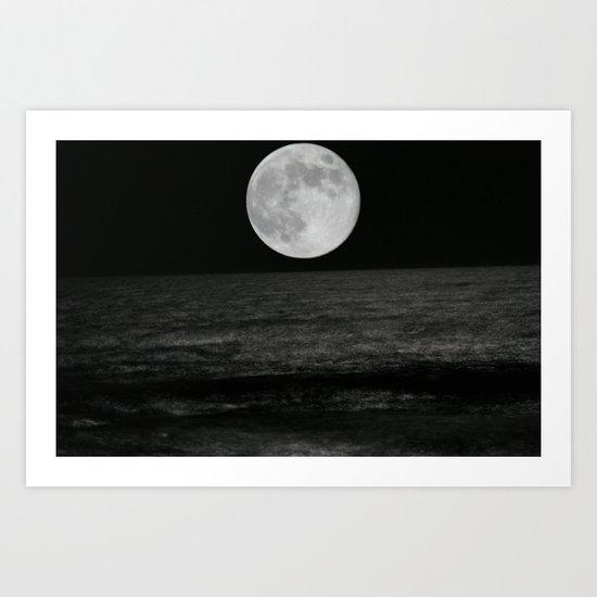 Moon over the Atlantic Art Print