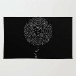 I Dream To Explore The World (Black) Rug