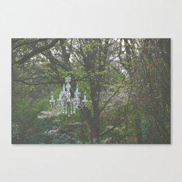 Forest chandelier Canvas Print