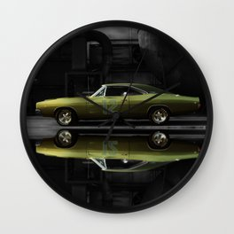 """1968 Dodge Charger R/T - """"12th Man"""" Charger Wall Clock"""
