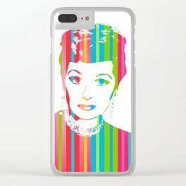 Lucille Ball | Pop Art Clear iPhone Case