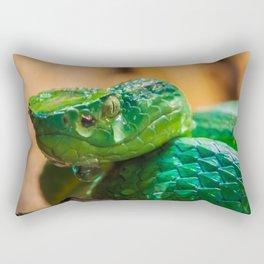 green Palm pit viper Rectangular Pillow