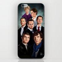 sherlock iPhone & iPod Skins featuring Sherlock by tillieke