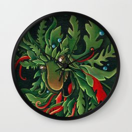the Green Man Wall Clock