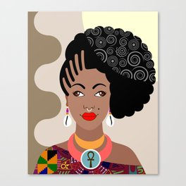 African Queen IV Canvas Print