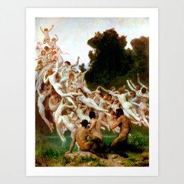 """William-Adolphe Bouguereau """"Les Oréades (The Oreads)"""" Art Print"""