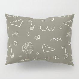 Doodle Play Line Work Pillow Sham