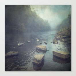 Stones in A River Canvas Print