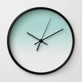 Ombre Duchess Teal and White Smoke Wall Clock