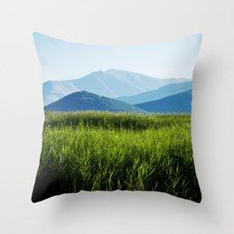 Land of beautiful nature Throw Pillow