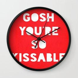 Gosh (Kissable) Wall Clock