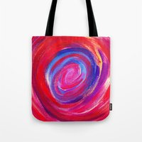 Red Cyclone Tote Bag