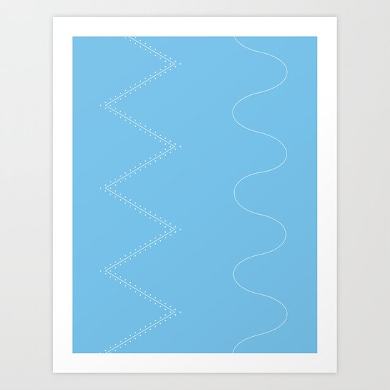 Backcountry Skiing Art Print