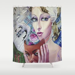 Lady Europe Shower Curtain