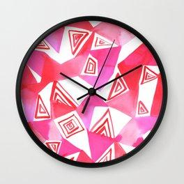 Geo Triangle Pink Wall Clock
