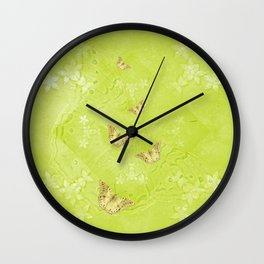 Emerging treasure from ghostly landscape Wall Clock