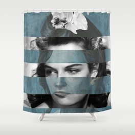Picasso's Woman with a Helmet of Hair & Jane R. Shower Curtain