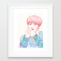 shinee Framed Art Prints featuring SHINee Taemin by sophillustration