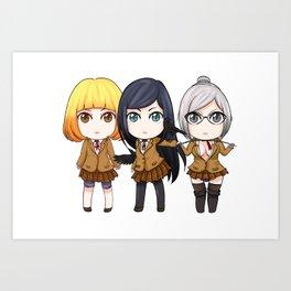 Prison School Girls Art Print
