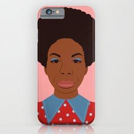 A Portrait of Nina Simone iPhone Case
