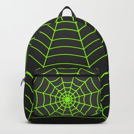 Neon green spider web Backpack