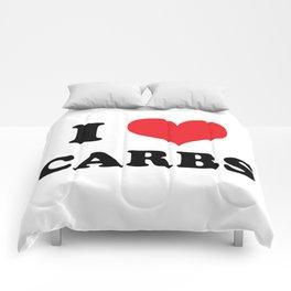 I (heart) CARBS Comforters