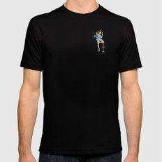 Shelly Johnson Pin-up Black Mens Fitted Tee LARGE