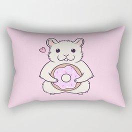 Donut Hamster Rectangular Pillow