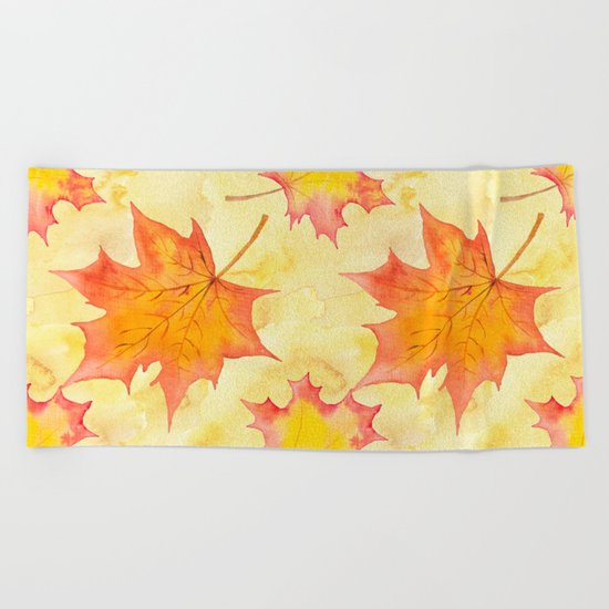 Autumn leaves #15 Beach Towel
