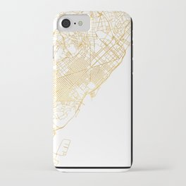 BARCELONA SPAIN CITY STREET MAP ART iPhone Case