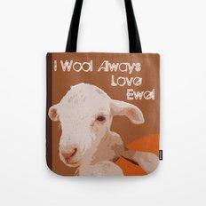 I Love Ewe  - Brown Tote Bag