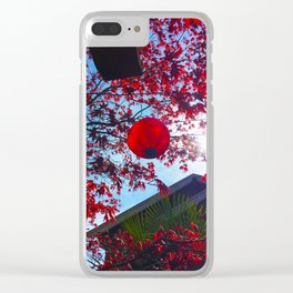 Red Lantan Clear iPhone Case