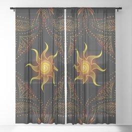 sun energy. part one Sheer Curtain