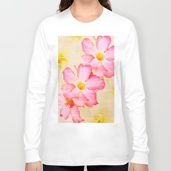 Desert Rose and Orchids  Long Sleeve T-shirt