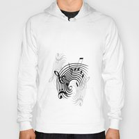 music notes Hoodies featuring Music Notes by Svetlana Sewell