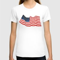 american flag T-shirts featuring American Flag by George Robinson