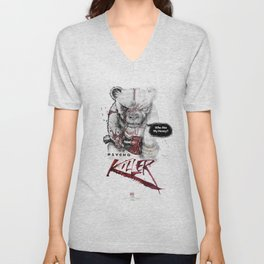 Ps*cho Killer bear Unisex V-Neck