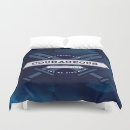 1 CHONICLES - BE STRONG AND COURAGEOUS Duvet Cover