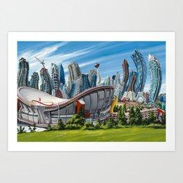 Downtown Calgary Skyline Art Print