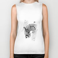 music notes Biker Tanks featuring Music Notes by Svetlana Sewell