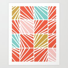 Facets Art Print