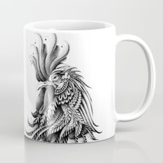 Ornately Decorated Rooster Mug