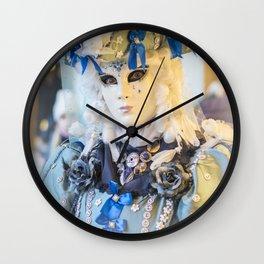 Venice Carnival 2018 White mask in San Marco Wall Clock