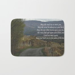 May The Road Rise to Meet You Bath Mat