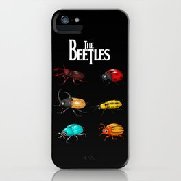 The Beetles, a parody with one of the biggest rock bands of all time. iPhone Case