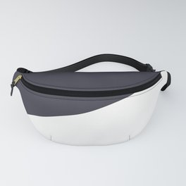 Urban Geometry Navy Blue + White Fanny Pack