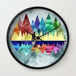 Mountains Spirit Wall Clock