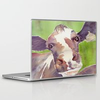 cow Laptop & iPad Skins featuring cow by Michele Petri