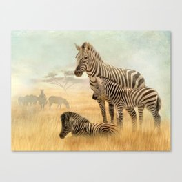 Sisters of the Savannah Canvas Print